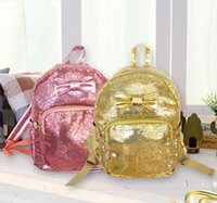 bling backpack - Primary school students Backpacks fashion pure color sequins bling bling children schoolbag bowknot big girls backpack ab1041