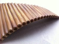 Cheap Wholesale-Professional bamboo Pan Flute 22 Pipes Woodwind Flauta xiao Curved Handmade Panpipes Musical Instrument Panflute Irish whistle