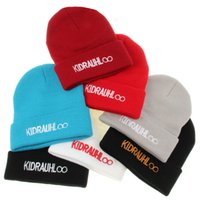 cotton wool roll - Winter Beanie UNISEX Korea KIDRAUHL Roll up Hem Hats Touca Sport Skullies Casual Caps Cotton Wool Knitted Hat Men And Women