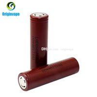Wholesale Original LG HG2 Battery mAh A MAX Rechargable Lithium Batteries VS Sony VTC5 VTC4 LG HG2 HE2 HE4 Battery Fedex