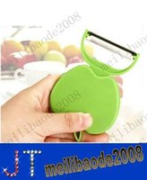 apple peeler - Portable fruit Peeler apple shape Fruit Peeler Folding Fruit peeler apple pear Tool MYY10693A