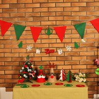 Wholesale Hot Spot supply Christmas items Christmas ornaments multicolor fashion British wind Christmas bunting