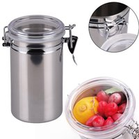 Wholesale 10 cm Kitchen Accessory Stainless Steel Jar with handle Stainless Steel Sealed Canister Jar Home necessity