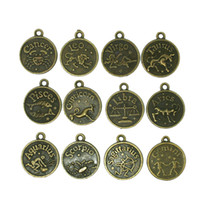 aries zodiac sign - 180pcs Mix Zodiac Signs Anti Bronze mm Alloy Capricorn Aquarius Pisces Aries Taurus Gemini Cancer Leo Virgo Scorpio Sagittarius Charms