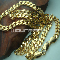 Wholesale 18K Yellow Gold Filled Men s cm Lenght mm Width Chain Necklace Jewelry N219