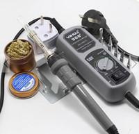 Acheter Mini-station de soudage-Station de soudage YYIHUA 908+ 110V 60W US Prise électrique Fer Thermostat Mini station de fer à souder pour SMT SMD soudage Rework réparation avec 5