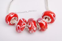 Wholesale Hot Sale Red Murano glass Beads charms for Pandora bracelet gb0056