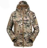 Wholesale Coat Outdoor Jacket Tactical Military Jacket Waterproof Sport Hoody Men Camouflage Hunting Hiking Fleece Warm Pizex Windproof Receiving Hood