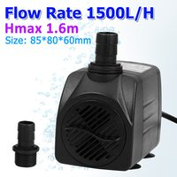 Wholesale Durable US Plug V HZ400 GPH L H Aquarium Submersible Water Pump for Fresh salt Water Aquarium Fountains Spout