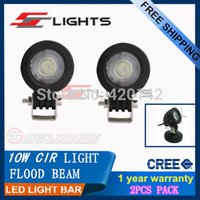 Cheap 2X 10W CREE LED WORK LIGHT BAR 1000LM FLOOD HIGH POWER DRIVING LAMP 12V 24V FOR DAYTIME RUNNING LIGHTS CARS LED CAR PARKING H11
