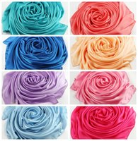 silk scarves - 2015 Fashion colors Silk Scarves Long Wraps Shawls Beach Scarf X90cm