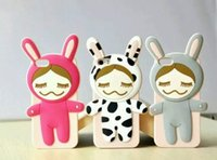 Cheap Pear doll silicone protective cover Best iPhone6 Plus silica milk rabbit