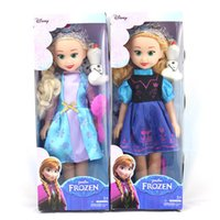 Wholesale 108pcs Purple Frozen Dolls Classic Toys Frozen Princess Anna Princess Elsa with snow man olaf Doll Toy inch Frozen