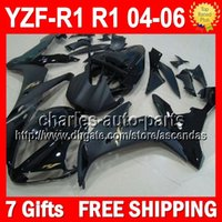 fairing r1 - 7gifts Body Black For YAMAHA YZF R1 YZF R1 Flat gloss black Q101298 YZF1000 YZFR1 YZF YZF R Fairings