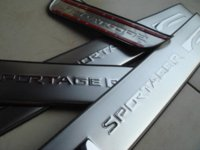 aluminium door sill - Accessories FIT FOR Kia SPORTAGE Aluminium Door Scuff Sill Plates M20744