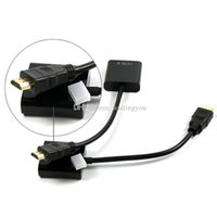 Wholesale Factory Price HDMI Input to VGA Adapter Converter For PC Laptop NoteBook HD DVD goodbiz