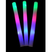glow sticks - 200pcs multi color material foam changing led foam stick foam glow stick christmas Electronic Concert Multicolor sponge stick flash stick