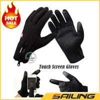 Wholesale Winiter Windstopper Outdoor Sports Skiing Touch Screen Glove Cycling Glove Warm Mountaineering Military Motorcycle Racing Gloves