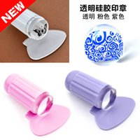 Wholesale 2016 Newest Transparent Stamp Nail Art Clear Jelly Stamp Scraper Set Polish Stamping Manicure Tools Hot Selling