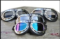 Wholesale Motorcycle Vintage Steampunk Goggles Glasses Welding motocross goggles racing bicycle Helmet glasses Scooter Steampunk Cruiser Harley