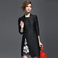 best special occasion dresses - Luxury Vintage Casual Dresses Stand Collar Sleeve Womens Black Dress Best Special Occasion Dresses B664