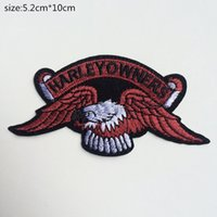 Wholesale 2015 CM CM New Harley eagle LOGO Badge embroidered Appliques DIY Cloth Accessories Hats Bags hot paste patch