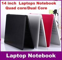 Wholesale 14 inch Duar core laptop GB GB Win win Itel Celeron N3050 GHZ N3150 Notebook Computer PC ultrabook X64 laptops