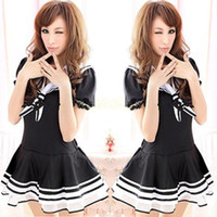 airline games - Blue Navy Sailor Suit Cosplay Service With DS Service Airline Stewardess Uniforms Temptation Nightclub Game Clothing Taste J213