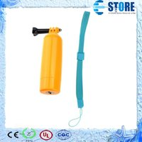Wholesale New Yellow Multifunction Floating Hand Grip Monopod Mount Screw Bobber For GoPro HD Hero ST W0111A