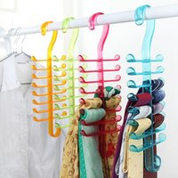 Wholesale Fishbone tie rack belt Nordic minimalist wardrobe shelf plastic storage rack hook scarf g