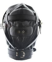 Wholesale 100 same with photo taste all headgear mask mask closed asphyxia for male and female hood bondage hood