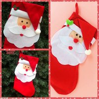 big lots stock - Big Red Santa Christmas Gift Candy Socks Christmas Tree Hanging Decoration Santa Lovely Sockings Bags Socks For Home Festive Party
