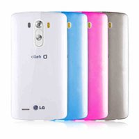 Cheap For LG G3 Clear Case Ultra Slim Fit 0.5mm Flexible Transparent TPU Skin Phone Cover Clear Gray Blue Pink Gold