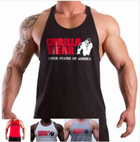 vest tops for men - gym vest bodybuilding clothing singlet fitness men cotton undershirt golds gym tank tops regatas for men M XXL
