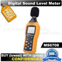 audio logger - Free shpping HYELEC MS6708 LCD Digital Audio Decibel Sound Noise Meter Monitor Logger Tester dB to dB dB Meter Measuring