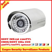Cheap silver housing bullet type home security CCTV camera 36LED infrared CMOS 960H SONY Effio-E CCD HD SONY IMX138 CMOS 1200TVL 3.6 6mm lens