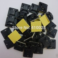 adhesive wall clips - nterior Accessories Auto Fastener Clip mm mm black Zip Tie car Cable Wire Removable Self Adhesive Wall Holder Mount Clip Clamp