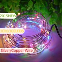 Wholesale 12V M LED Lights Holiday Waterproof LED String Lights X mas Outdoor Decoration Fairy Light With Silver Copper Wire