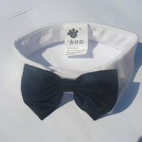 Wholesale White Black Dog Cat Bow Tie Collar Cute Puppy Necktie Accessory Wedding Adjustable Bowtie JIA437