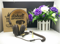 Cheap MOQ5 pcs Marshall Major Headset With Mic Great Bass DJ Hi-Fi Headphones HiFi Earphones Professional DJ Monitor Headphones Perfect Bass