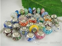 925 sterling silver beads - 925 Sterling Silver ALE stamped Murano Glass Beads Fit Pan do ra Charm Bracelets Necklaces