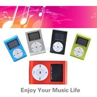 Wholesale Mini Clip Design Digital LED Light Flash MP3 Music Player With TF Card Slot Colors Optional FM Radio Support GB CB027963