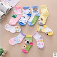 baby girl sections - Baby Socks Cotton New Spring and Summer Breathable Boy Girls Socks New Cartoon Embroidery Sweet Thin Section Soft Slip Resistant Floor Socks