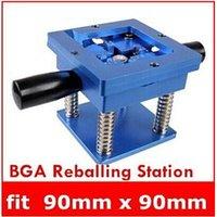 bga jig - The Best Quality Reballing BGA Station with Handle mm x mm Stencils Template Holder Jig top sale drop