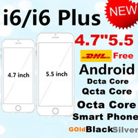 Wholesale DHL Goophone i6 phone inch i6 plus inch Metal i6 quad core MTK6582 IPS GB RAM GB ROM Android