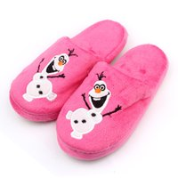 Wholesale Frozen Kids Slippers Olaf Warm Plush Stuffed Slippers House Slippers Children Slippers Shoes
