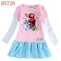 Wholesale Nova korean children clothing girl dress princess party dresses long sleeve leopard print baby clothes H4351 H4549 H4643 H4726 H4715 H5720