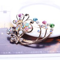 Wholesale Attractive Women Brooch Colorful Rhinestone Pins Korean Style Fashion Statement Jewelry X0034