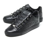 Wholesale Drop Ship Men s High Top Leather Arena Sneakers Size running Kanye West footwear brand Mens Fashion Trainers