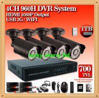 Wholesale CIA DHL Home p CCTV home security video surveillance system CH H NVR KIT DVR kit TVL Camera G WIFI HDD